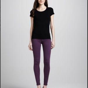 Hudson Nico Super Skinny Jeans in Aubergine
